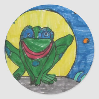 Mr. Frog Round Sticker