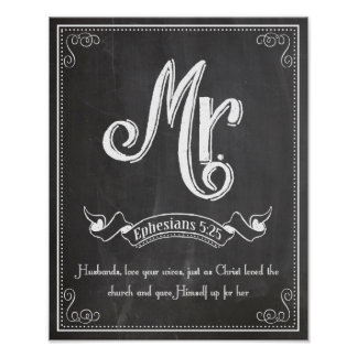 Mr. from the Mr. and Mrs series Ephesians 5:25 Poster
