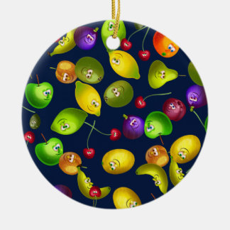 Mr Fruit Wallpaper Christmas Ornament