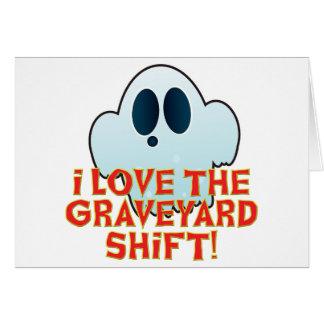 Mr Ghosty Graveyard Shift Greeting Card