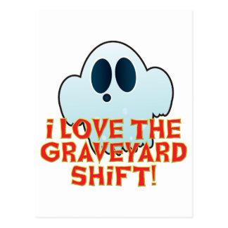 Mr Ghosty Graveyard Shift Postcard