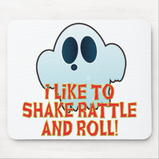 Mr Ghosty Rattle Roll Mouse Pad