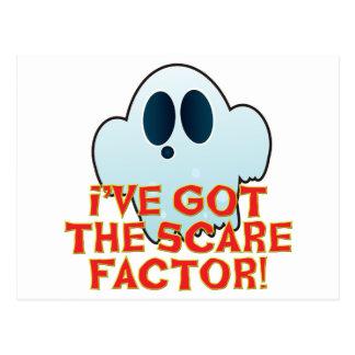 Mr Ghosty Scare Factor Postcard