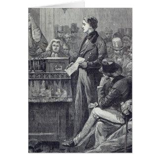 Mr Gladstone delivering his Maiden Speech Card
