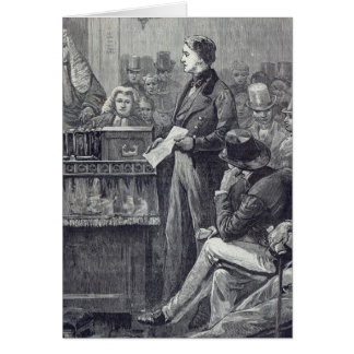 Mr Gladstone delivering his Maiden Speech Greeting Card