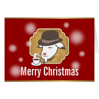 Mr. Goat & His Coffee Merry Christmas Card