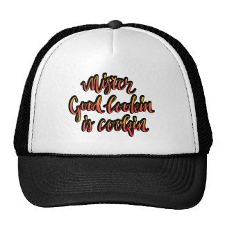 Mr Good lookin is cookin funny bbq hat for men