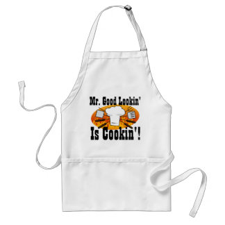 Mr. Good Lookin' is Cookin' Funny Men's Grill BBQ Standard Apron