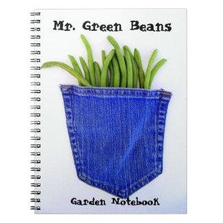 Mr. Green Beans Garden Notebook