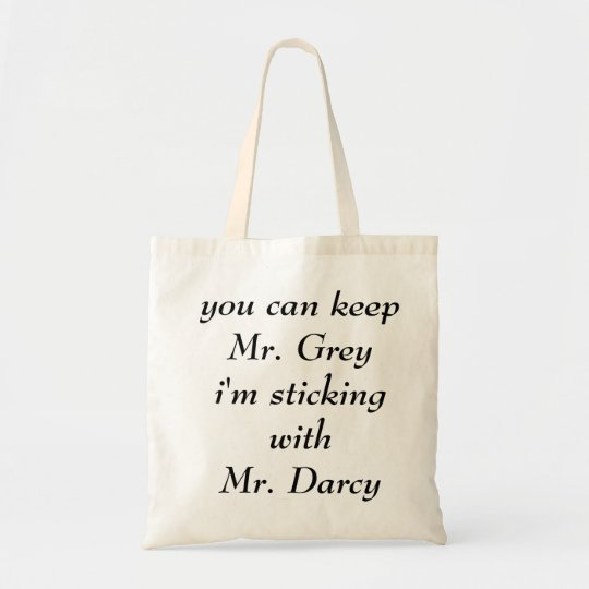 Mr. Grey vs. Mr. Darcy Tote Bag