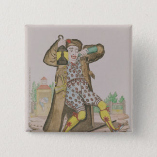Mr Grimaldi as Clown, illuminating the 15 Cm Square Badge
