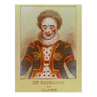 Mr Grimaldi as Clown Postcard