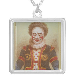 Mr Grimaldi as Clown Silver Plated Necklace