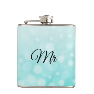 Mr Groom or Husbands Teal Flask