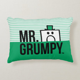 Mr Grumpy | Peeking Head Over Name Decorative Cushion