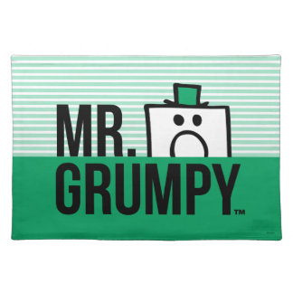 Mr Grumpy | Peeking Head Over Name Placemat