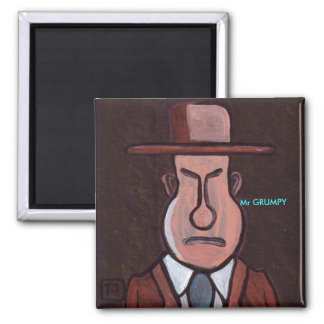 Mr GRUMPY Square Magnet