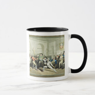 Mr H Angelo's Fencing Academy, engraved by Charles Mug