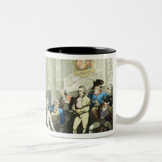Mr H Angelo's Fencing Academy, engraved by Charles Two-Tone Coffee Mug