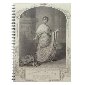 Mr H. Marston as Marc Antony, Act III Scene 2, in Notebook