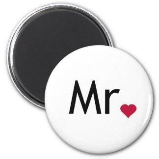 Mr - half of Mr and Mrs set 6 Cm Round Magnet