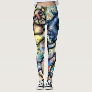 Mr Happy by rafi talby Leggings