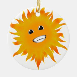 Mr Happy Sunshine Round Ceramic Decoration