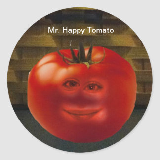 Mr. Happy Tomato Stickers