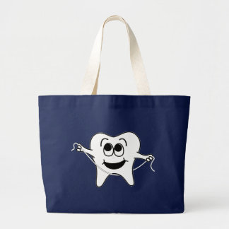 Mr. Happy Tooth Large Tote Bag