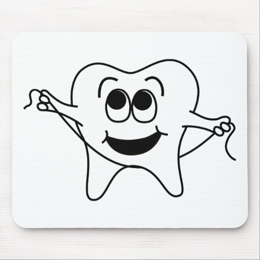 Mr. Happy Tooth Mouse Pad