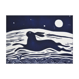 Mr hare canvas print