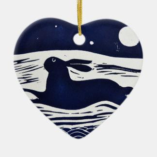 Mr Hare Ceramic Heart Decoration