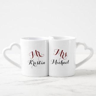 Mr. Her & Mrs. Him Coffee Mug Set