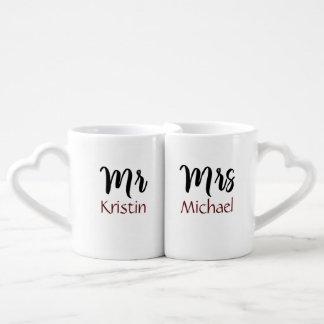 Mr. Her & Mrs. Him Personalized Coffee Mug Set