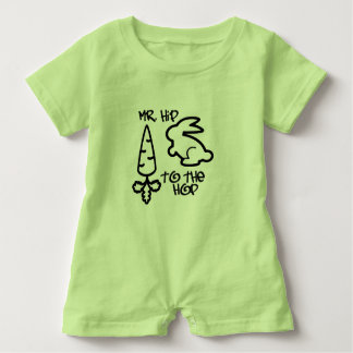 """Mr. Hip to the Hop"" Baby Romper Baby Bodysuit"