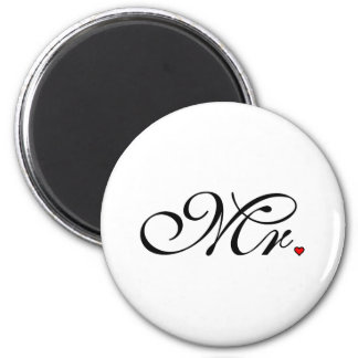 Mr. Husband Groom His Her Newly Weds 2 Inch Round Magnet