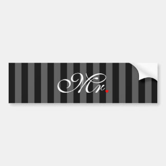 Mr. Husband Groom His Hers Newly Weds Bumper Sticker
