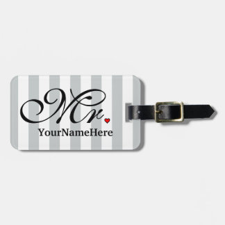 Mr. Husband Groom Name Click to Customize Color Luggage Tag