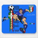 Mr Italian Stallion Forza Azzurri Italy 2010 gifts Mousepads