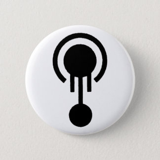 Mr. Jellyfish Crop Circle Logo 6 Cm Round Badge