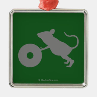 Mr. Jingles from Green Mile Silver-Colored Square Decoration