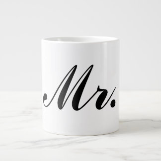 MR. JUMBO BLACK & WHITE COFFEE MUG