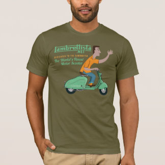 Mr Lambrettista Rides a Green Lambretta LD T-Shirt