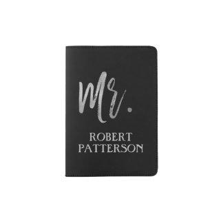 Mr. Last Name Typography Passport Holder