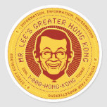 Mr. Lee's Greater Hong Kong Round Sticker