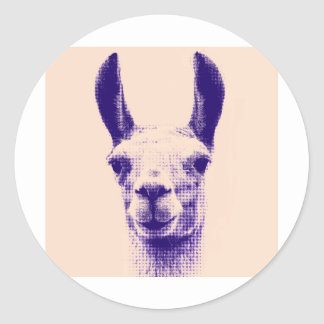 Mr Llama Classic Round Sticker