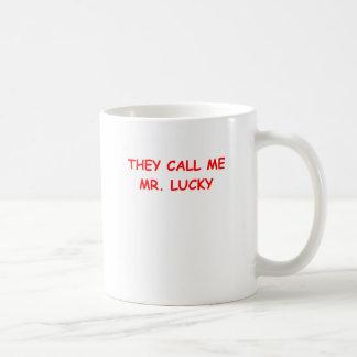mr lucky basic white mug