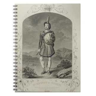 Mr Macready as Macbeth, Act I Scene 3, in the play Notebook