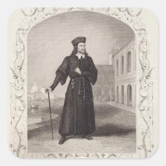 Mr Macready as Shylock, Act I Scene 3, in 'The Mer Square Sticker