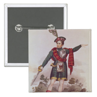 Mr. Macready in the role of Rob Roy Macgregor 15 Cm Square Badge